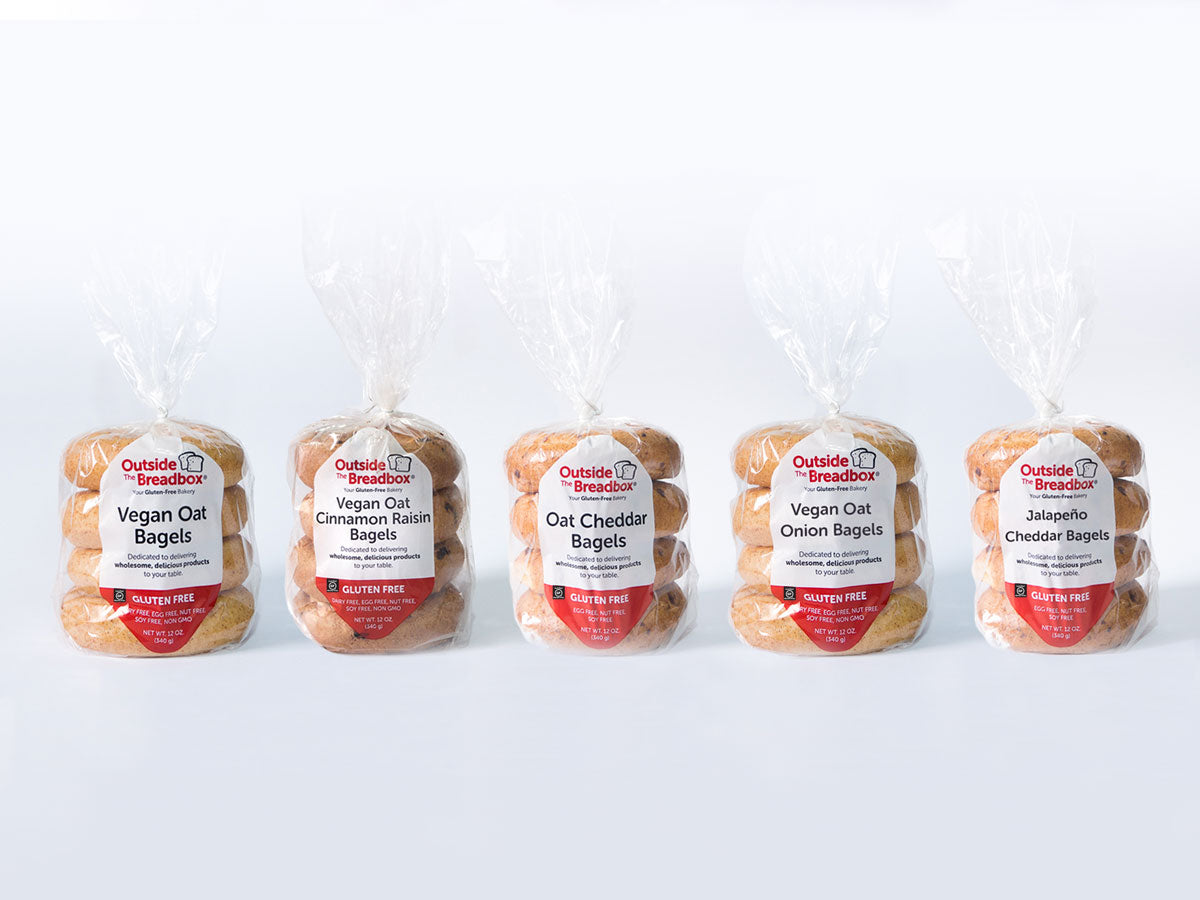 Bagel 6-Pack: Six Packages of Your Favorite Gluten-Free Bagels