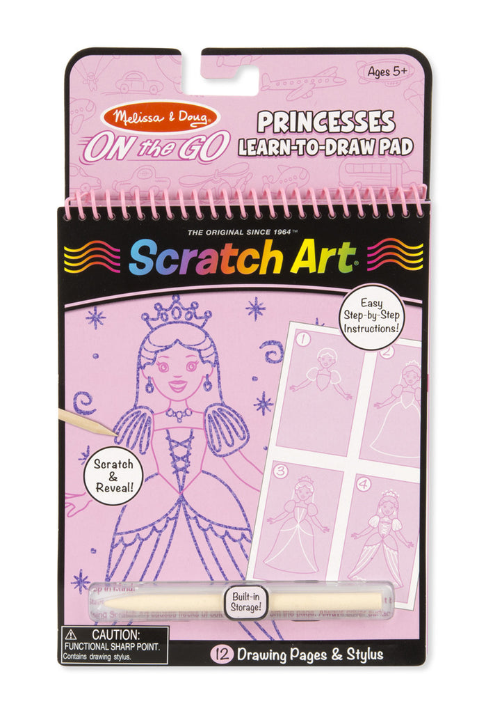On the Go Scratch Art: Learn-to-Draw Pad - Princesses [Home Decor]- Olde Church Emporium