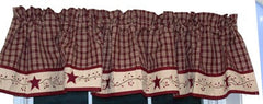 Cambridge wine Starberry Vine Collection - Lined Valances, Tiers, Panels, Prairies, and More - Olde Church Emporium
