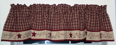 "Cambridge Wine Starberry Vine - Lined Valance 72"" x 14"""