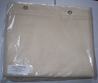 Natural (Ecru)  - Shower Curtain  No Liner Needed - Made in USA