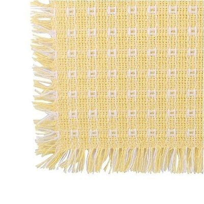 Homespun Tablecloth - Buttercup and White - Tablecloths, Napkins, Runners, Placemats - Made in USA [Home Decor]- Olde Church Emporium