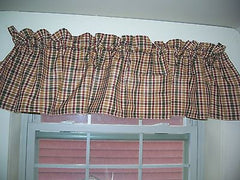 Hen House Curtains Collection - Valances, Tiers, Fishtail Swags - 100% Cotton [Home Decor]- Olde Church Emporium