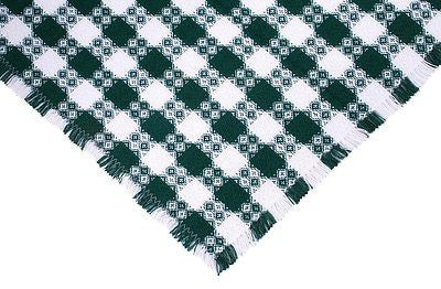Homespun Tablecloth - Tavern Check Green Tablecloths - Made in USA