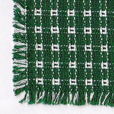 Homespun Tablecloth - Evergreen and White Tablecloth - Made in USA