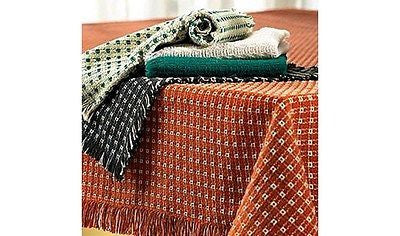 Homespun Tablecloth - Cinnamon and Stone - Tablecloths, Napkins, Runners, Placemats  - Made in USA