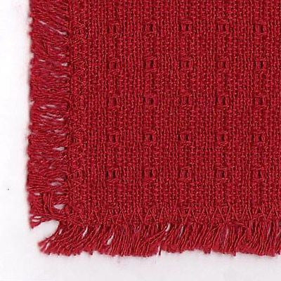 Homespun Tablecloth - Cranberry Tablecloths, Napkins, Runners - Made in USA