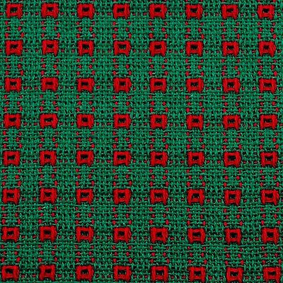 Tablecloth green and red, Homespun Tablecloth