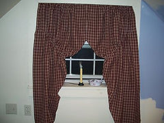"Cambridge Wine Starberry Vine Lined Prairie Curtains 72"" x 63"""