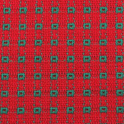 Tablecloth, red and green, Homespun Tablecloth