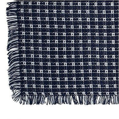 Homespun Tablecloth - Navy and White Tablecloths, napkins - Made in USA
