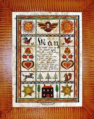 Fractur - Irish Blessing, American Folk Art, Collectible, Affordable Art