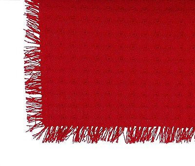 Homespun Tablecloth - Red Tablecloth, Napkins, Runners, - Made in USA