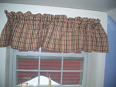 Hen House Curtains Collection - Valances, Tiers, Fishtail Swags - 100% Cotton - Olde Church Emporium