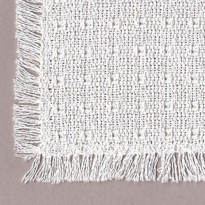 Homespun Tablecloth - White - Tablecloths, Napkins, Runners, Placemats - Made in USA [Home Decor]- Olde Church Emporium
