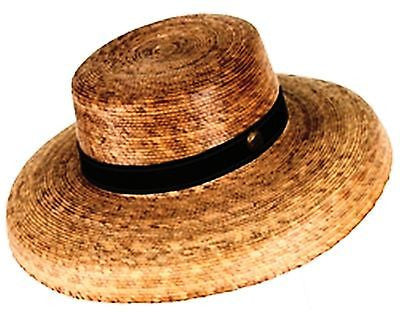 Women's Brook Straw Hat w stretchy Sweatband - One Size 22 inch or Size 7 - Olde Church Emporium