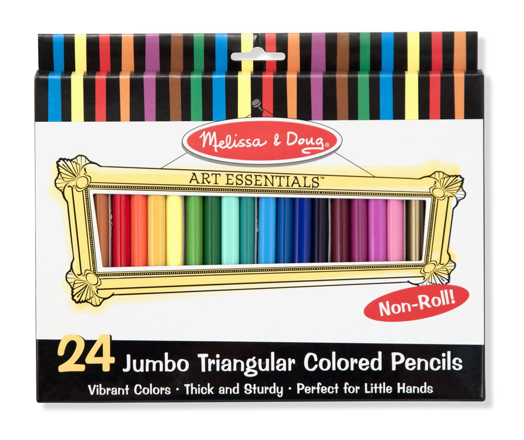Melissa & Doug Jumbo Triangular Colored Pencils (Set of 24) - Olde Church Emporium
