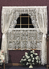 Heritage Lace - Victorian Rose Collection - Curtains,Tablecloths, Doilies, Placemats, Runners, Home Textiles, etc. - Olde Church Emporium