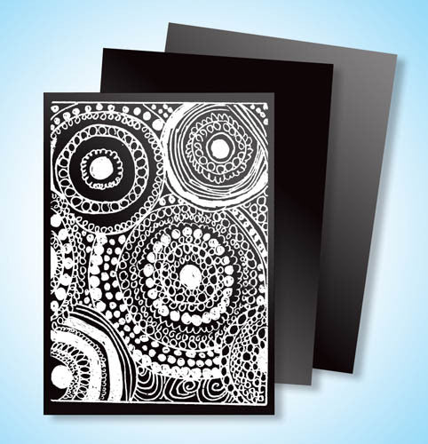 Scratch Art® Classroom Packs - Scratch Art Black Scratchboard Artist Trading Cards