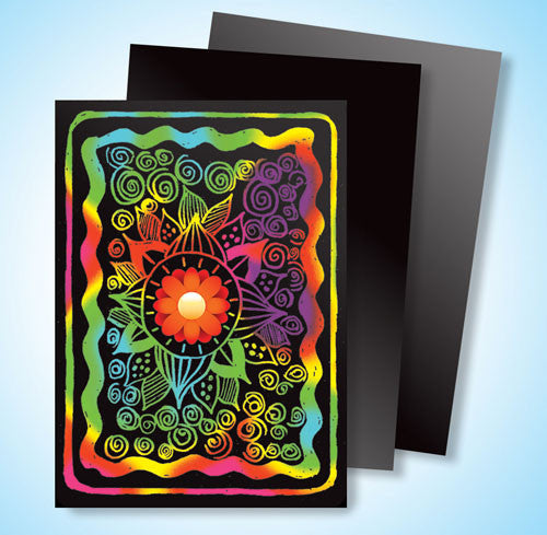 Scratch Art® Classroom Packs - Scratch Art Multicolor Board Artist Trading Cards