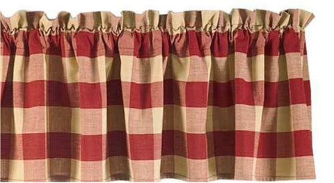Park Designs - Tavern Wine Check Curtains - valances, swags, panels