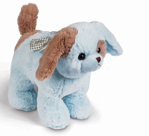 "Waggles Blue Puppy Musical Bank 9"" by Bearington"
