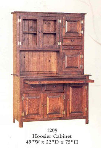 Hoosier Cabinet - Mahogany Stain [Home Decor]- Olde Church Emporium