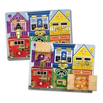 Melissa & Doug Deluxe Latches Board - Activity Board - Olde Church Emporium