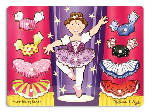 Melissa & Doug Ballerina Dress-Up Mix 'n Match Peg [Toy]