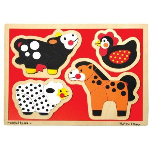 Melissa & Doug Farm Animals - Shaped [Toy]