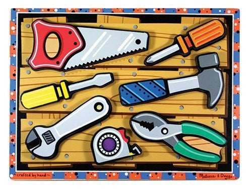 Melissa & Doug Tools Wooden Chunky Puzzle [Toy]