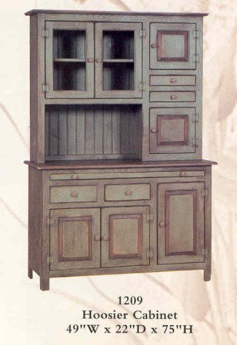 Hoosier Cabinet - Primitive Green [Home Decor]- Olde Church Emporium