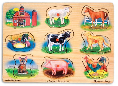 Melissa & Doug Farm Sound Puzzle [Toy] - Olde Church Emporium
