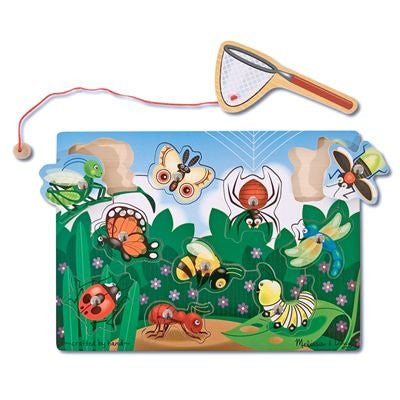 Melissa & Doug Deluxe 10-Piece Magnetic Bug Catching Game [Toy]