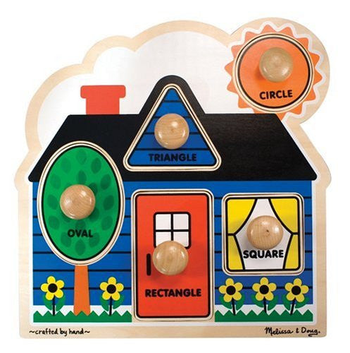 Melissa & Doug First Shapes Jumbo Knob Puzzle [Home Decor]- Olde Church Emporium