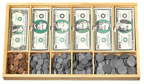 Melissa & Doug Play Money Set - Includes 30 Bills and 250 Coins Ages 3+ - Olde Church Emporium