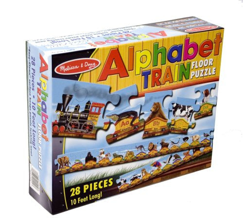 Melissa & Doug -  28 Piece Alphabet Train Floor Puzzle - 10 Feet Long [Home Decor]- Olde Church Emporium