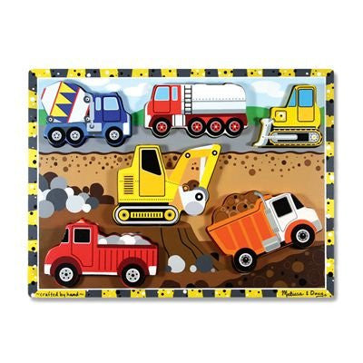 Melissa & Doug Construction Wooden Chunky Puzzle [Toy]