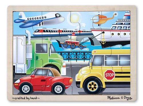 Melissa & Doug On the Go (Vehicles) Jigsaw (12 pc) [Toy] - Olde Church Emporium