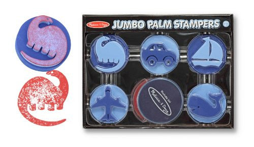 Melissa & Doug Jumbo Palm Stampers - Blue [Toy]