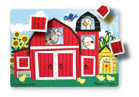 Melissa & Doug Farm Peek A Boo Peg Puzzle [Toy]