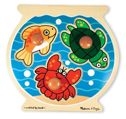Melissa & Doug Deluxe Fish Bowl Jumbo Knob Puzzle [Toy] - Olde Church Emporium