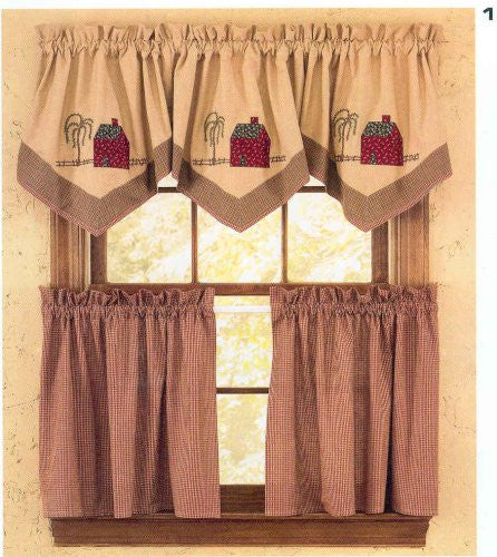 "Tiers Homestead Curtains,  72""x74"" [Home Decor]- Olde Church Emporium"