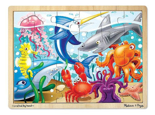 Melissa & Doug 24 Piece Under the Sea Jigsaw Puzzle [Home Decor]- Olde Church Emporium