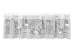 Heritage Lace - Woodland Patch - Curtains in White and Cafe Color
