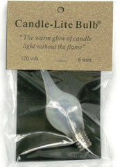 Candlelite 6 watt Candelabra base Silicone wrapped light bulbs - small or large size bulb