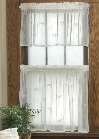 Heritage Lace Dragonfly Collection - Valances, Tiers, Panels