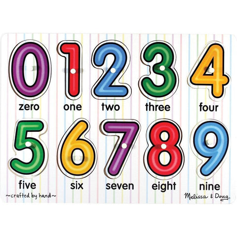 Melissa & Doug See-Inside Numbers Peg [Toy]