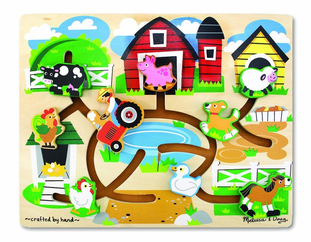 Melissa & Doug Farm Maze Wooden Puzzle [Toy]
