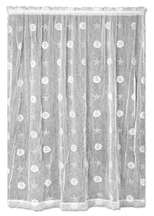 Heritage Lace Sand Dollar Collection - Valances, Tiers and Panels in White [Home Decor]- Olde Church Emporium